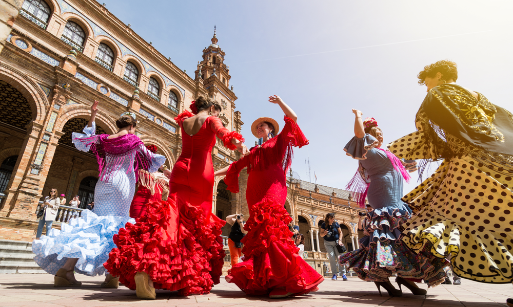 Traditional dancing in Seville