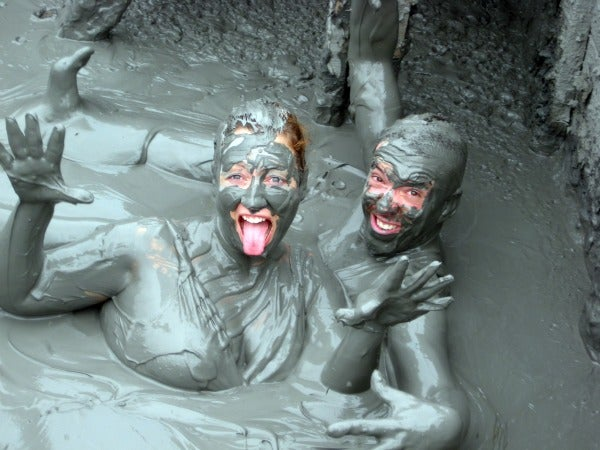 Mud volcano near Cartagena, Colombia