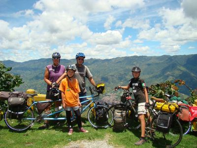 the Vogel family in the Andes