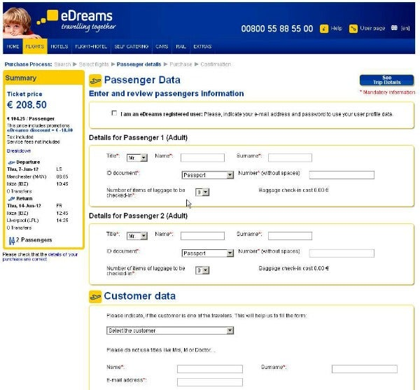 Discount coupon for edreams flights