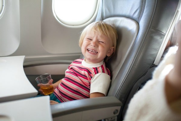 child-free zones on airplanes