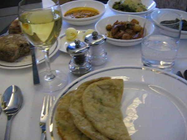 british airways first class food