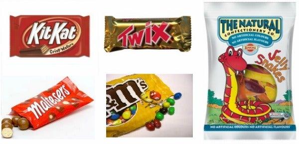 easyJet sweets