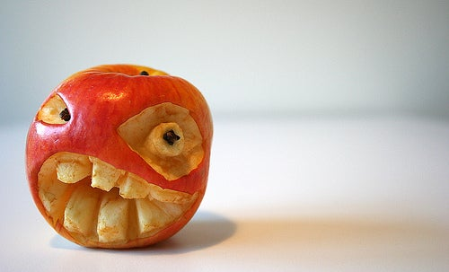 evil halloween apple