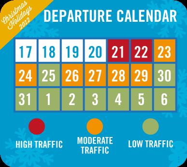 departure calendar eDreams UK xmas study