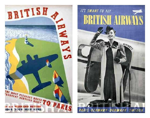 British Airways 1930 travel ads