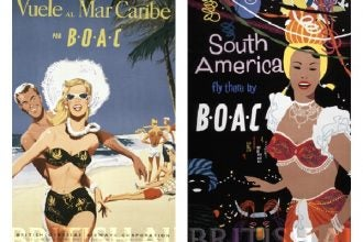 British Airways 1950 travel ads