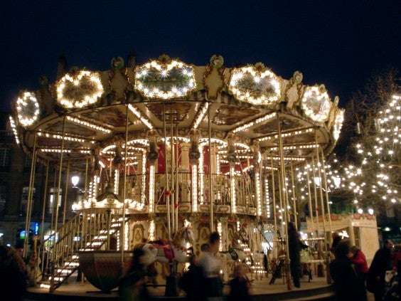 The Merry-go-round in Bordeaux, France