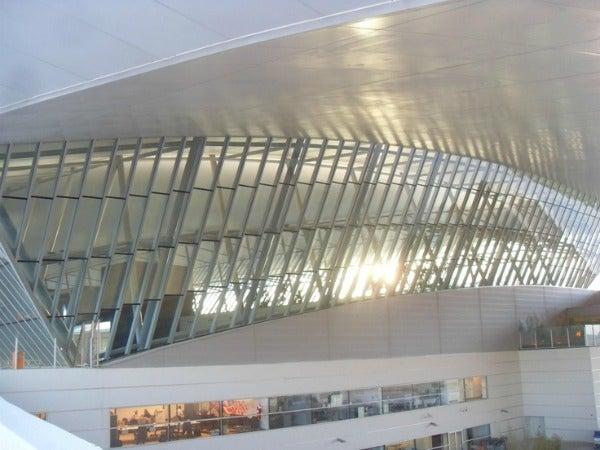 Bilbao airport in Spain
