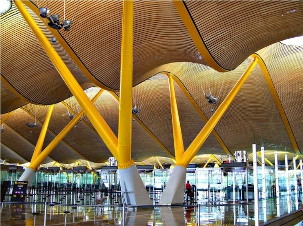 Madrid Airport in Spain