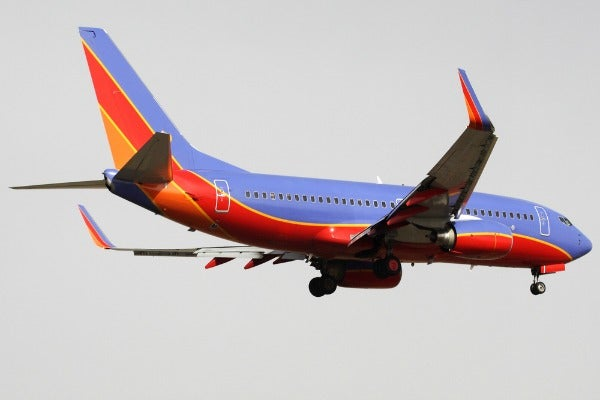 southwest airlines #1 searched airline in the world