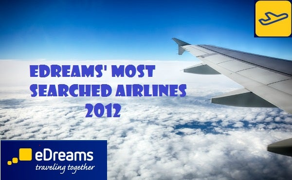 edreams most searched airlines 2012