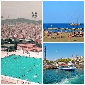 barcelona summer weather collage