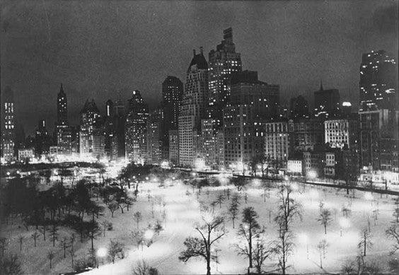 Central Park Winter 1935