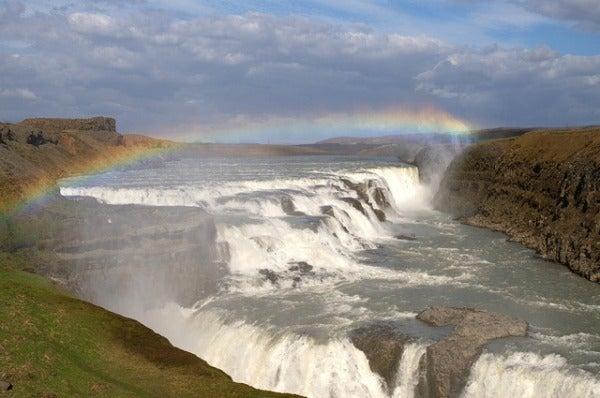 Gullfoss Golden Waterfall