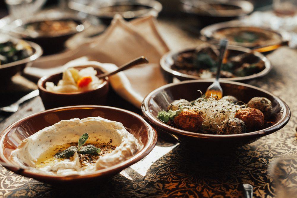 Traditional meze food