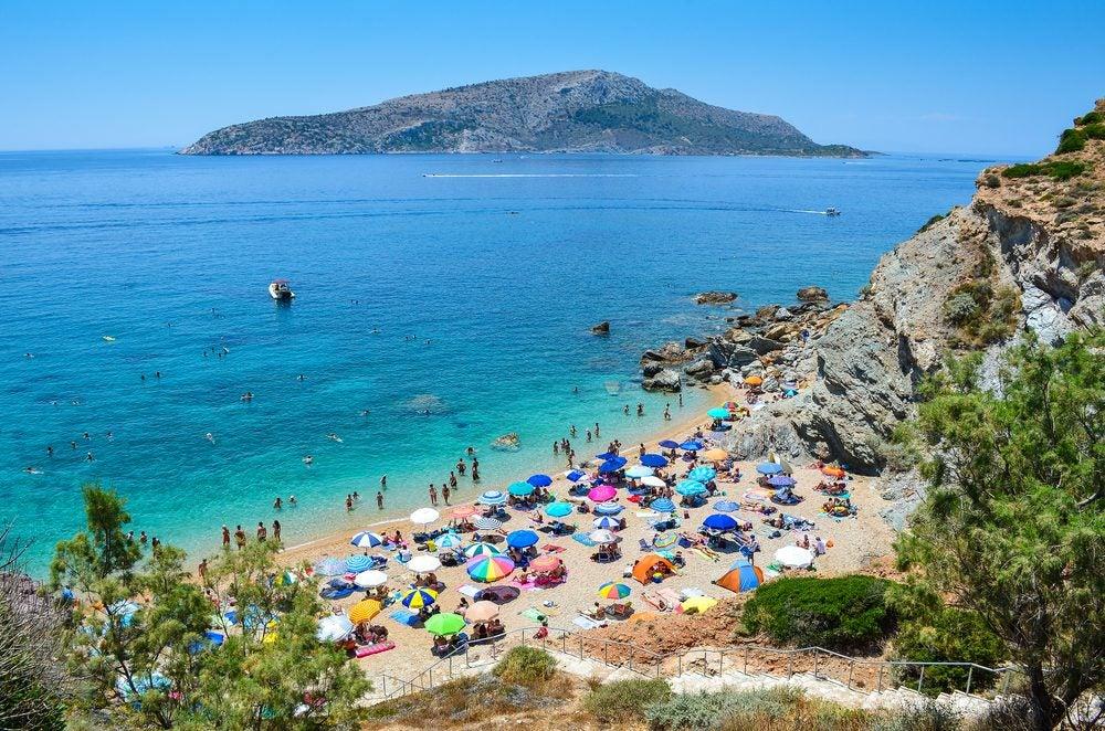 Legrena beach near Athens
