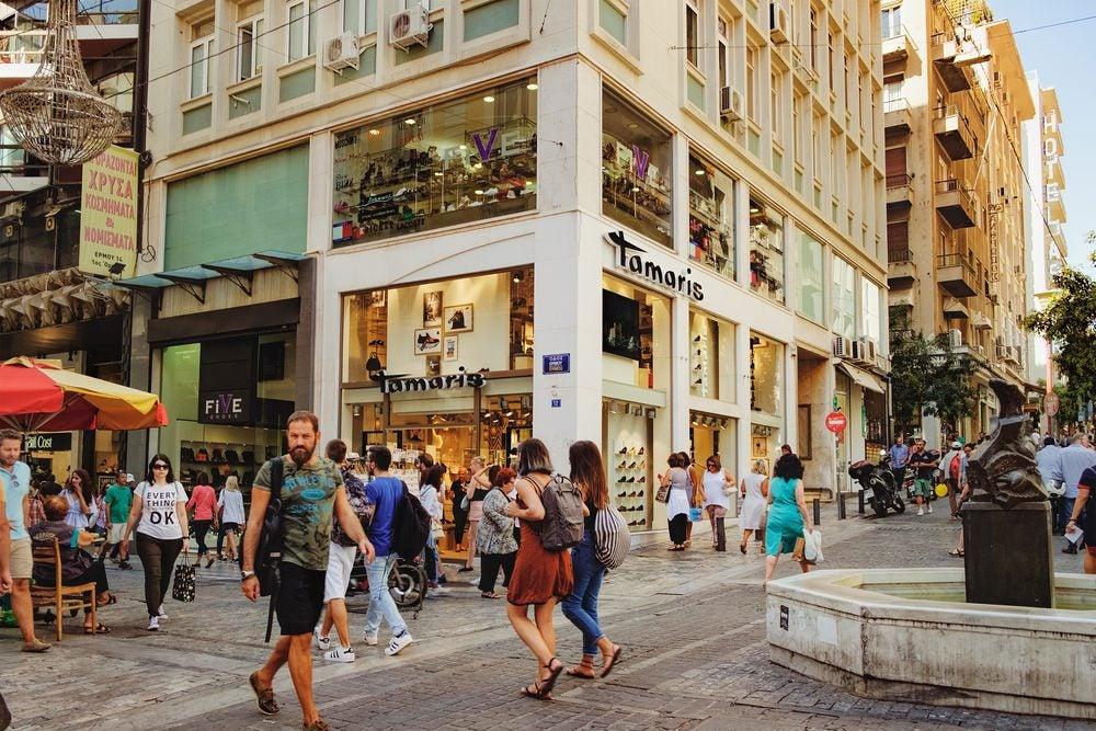 shopping on Ermou Street