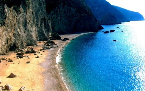 Kalamitsi Lefkada Greece Beach Landscape
