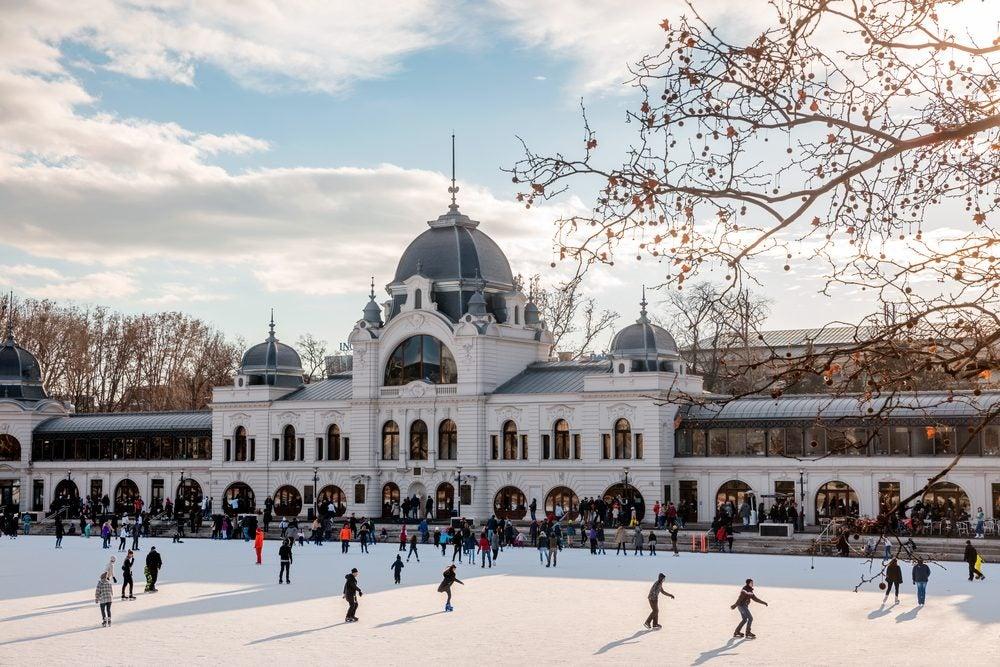 Ice skating in City Square