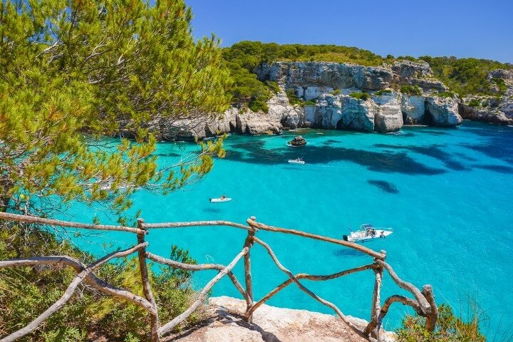 Cala Macarella in Menorca