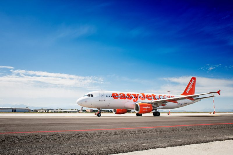 easyJet plane on the runway