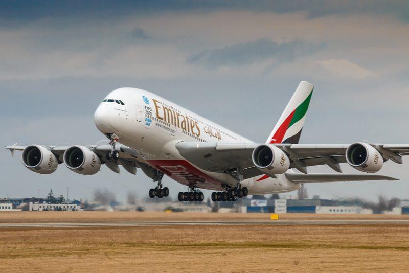 Emirates plane taking off