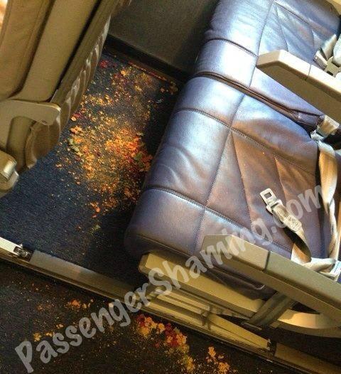 comida y bebida en el avion