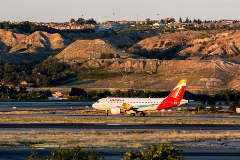 Iberia plane in mountains