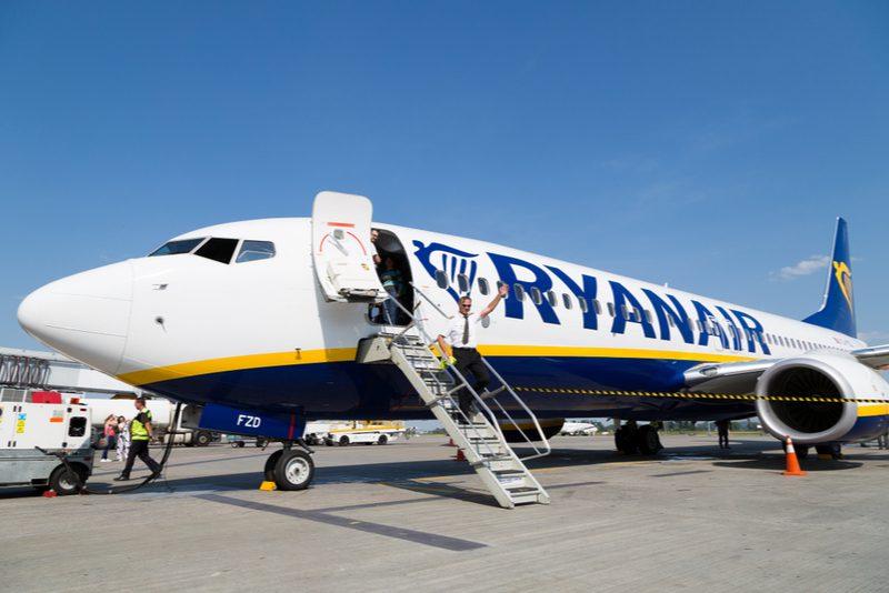Ryanair plane on the runway