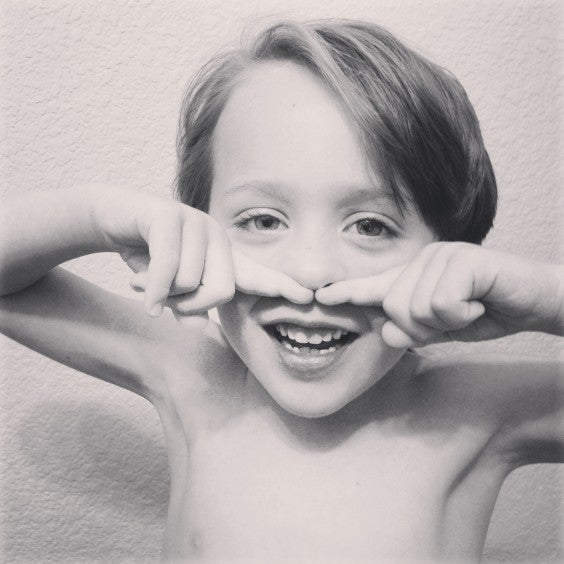 finger mustache