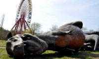 Abandoned amusement park in Spreepark, Berlin