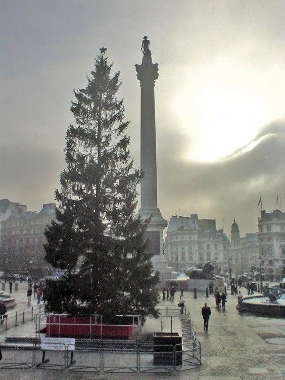 Trafalgar Square, London, during Christmas