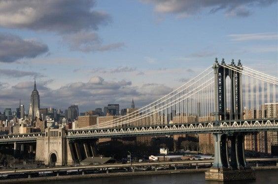 New York via the Brooklyn Bridge