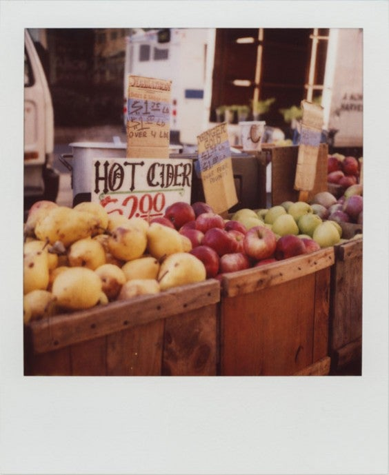 Hot Cider in a New York market