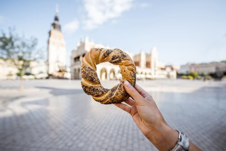 Obwarzanek donut at krakow - poland