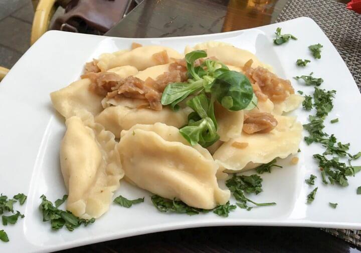 Pierogi food at krakow