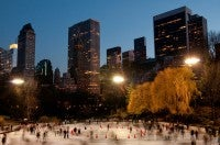 Ice skating at Wollman Rink in New York