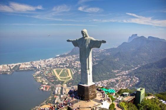 Vista desde o Cristo Redentor no Rio de Janeiro, Brasil