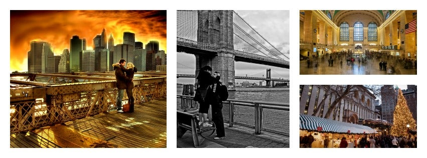 A collage of couples in New York