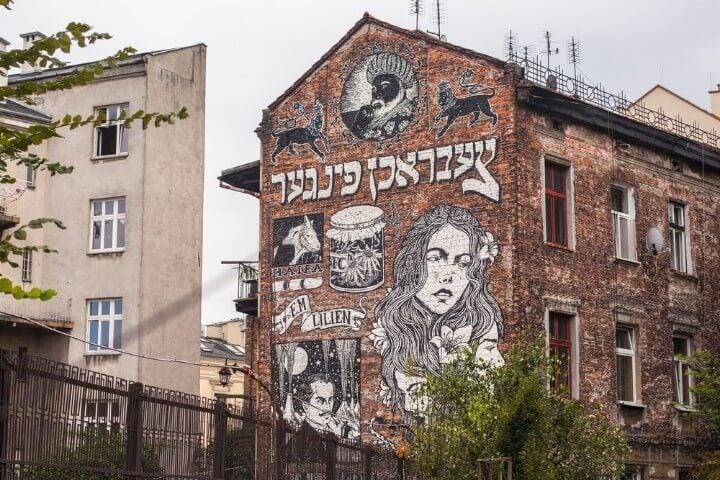 street art at Kazimierz - krakow - poland