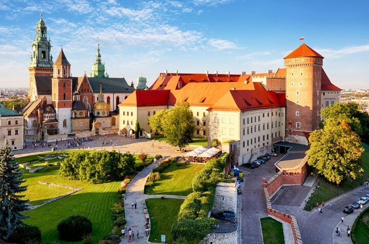 Wawel Castle in krakow - poland