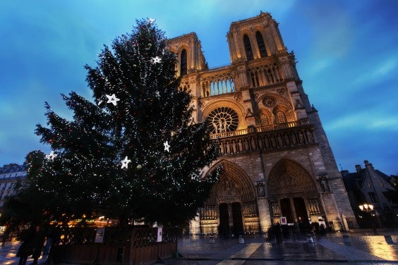 Christmas in Paris Notre Dame