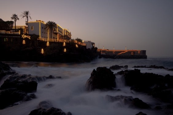The coast of Tenerife at Christmas time