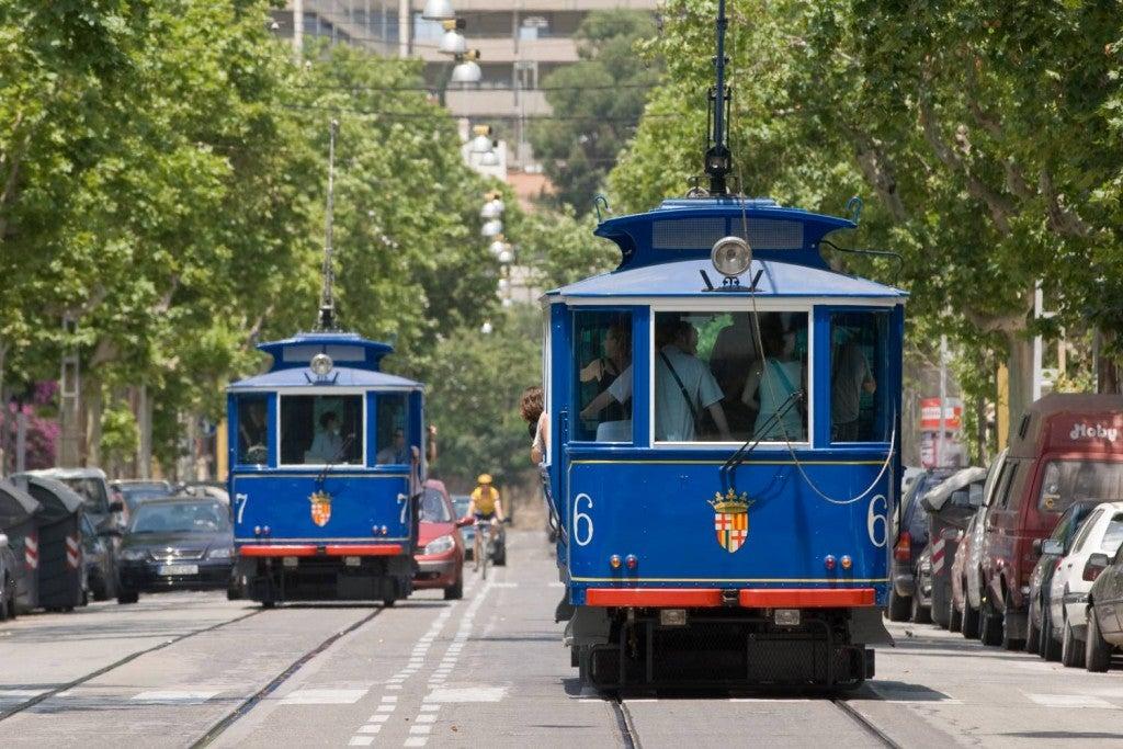 tramvia blau barcelona