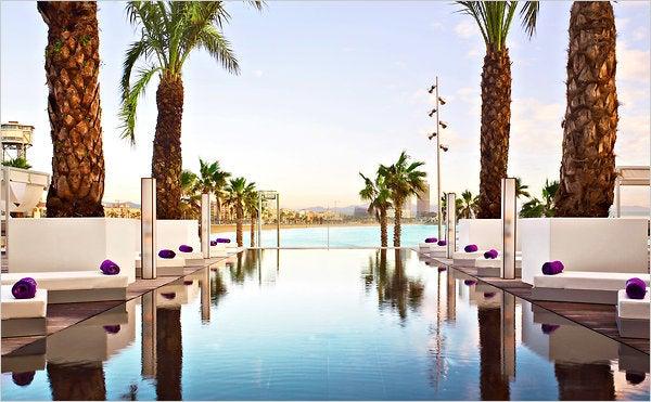 w hotel barcelona pool