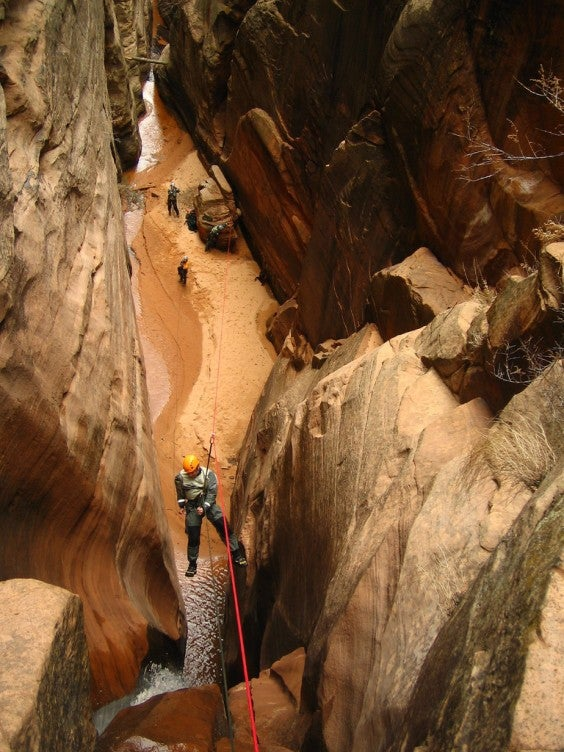 Cave zip-lining  in Utah