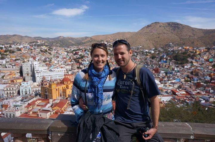 Goats on the road: Nick and Dariece in Guanajuato