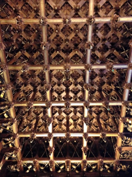 palau guell ceiling