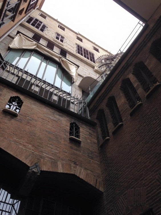 palau guell from stables